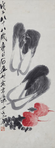 Qi Baishi (1863-1957) Cabbage and Radish
