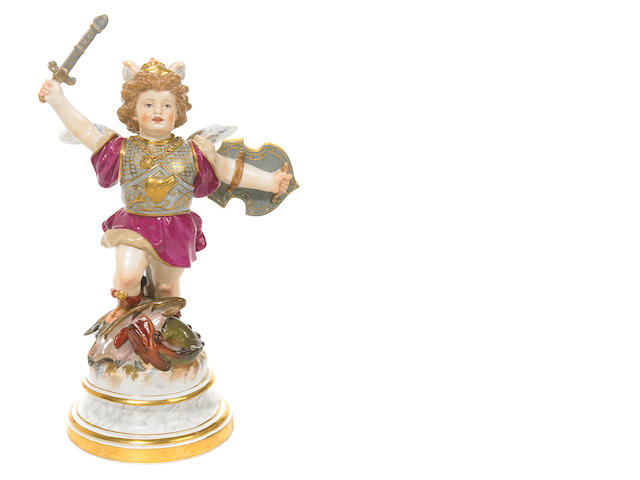 A Meissen porcelain figure of Cupid <BR />late 19th century