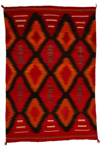 A Navajo transitional rug