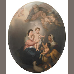 A Berlin (K.P.M.) oval porcelain plaque . late 19th century