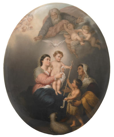 A Berlin (K.P.M.) oval porcelain plaque <BR />late 19th century