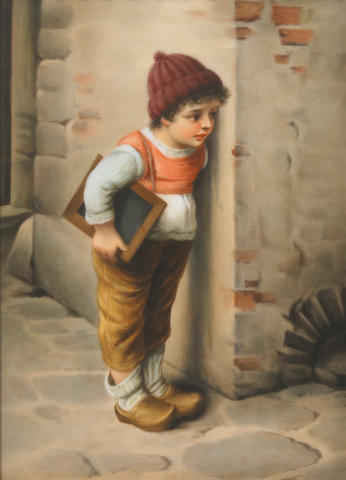 A Berlin (K.P.M.) porcelain plaque <BR />late 19th century