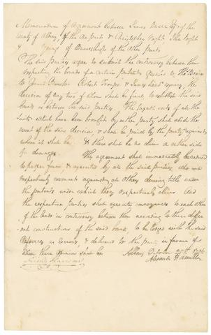 "HAMILTON, ALEXANDER. 1755/7-1804. Document Signed (""Alexander Hamilton""), 1 p, folio, Albany, October 25, 1796,"