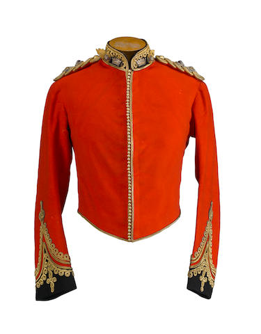 An officer's mess dress coatee and vest of a lieutenant colonel of the Royal Irish Fusiliers (Princess Victoria's)