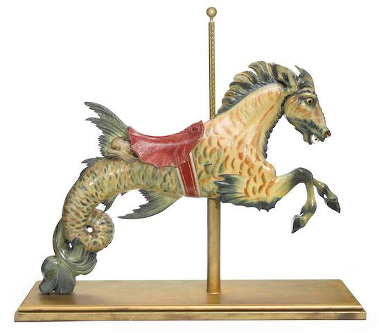 A fine and rare carousel Hippocampus <BR />Daniel Carl Muller, Philadelphia <BR />circa 1905