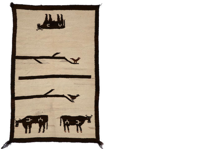 A Navajo transitional pictorial rug