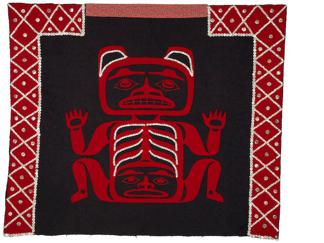 A Haida button blanket