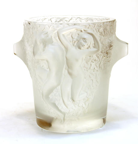 A Lailque molded glass figural vase