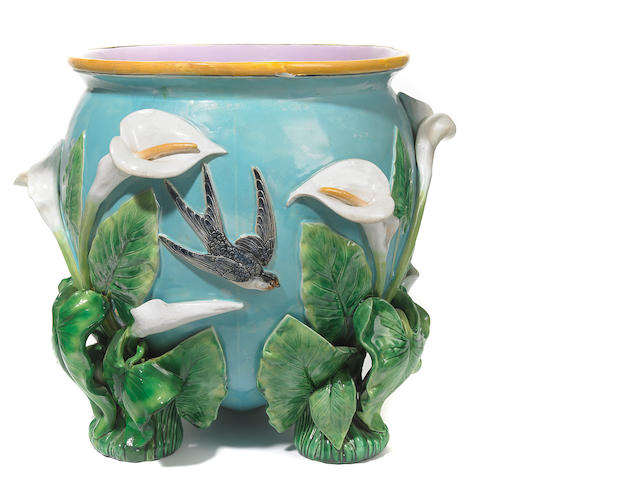 A George Jones majolica jardiniere (restored)