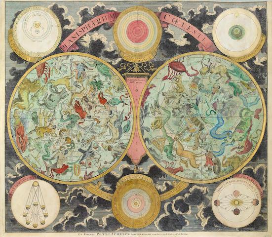 SCHENCK, PETRUS. 1660-1718. Planisphaerium Coeleste : Secundum Restitutionem Hevelianam et Hallejanam Amsterdam: Shenck, [1705].