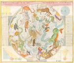 2 Maps. Homann. Hemisphaerium Coeli Boreale & Motus Cometarumin ... Australi