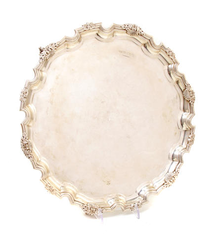 An Elizabeth II sterling silver salver Tiffany & Co., Birmingham, 1987