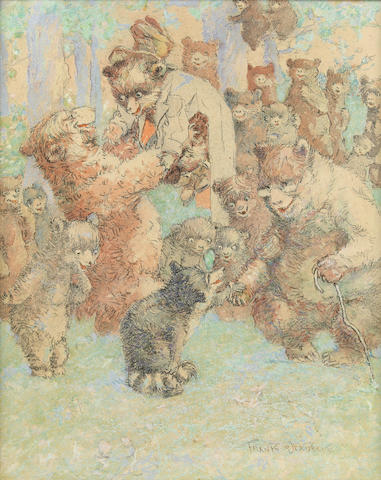 VER BECK, FRANK. 1858-1933. Bear Party.