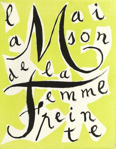 MARCHAND, ANDRE, illustrator. LUNEL, ARMAND. La maison de la femme peinte. Monaco: à la Voile Latine, 1946.