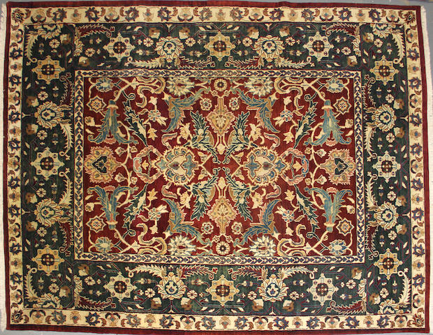 An Indian carpet size approximately 8ft. x 10 ft