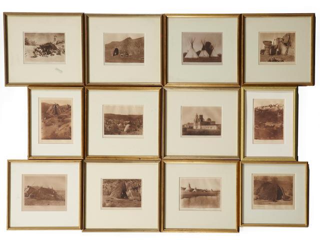 Twelve Edward R. Curtis photogravures