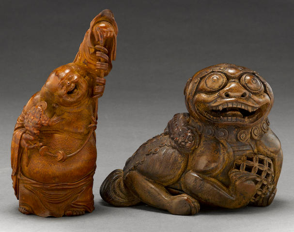 Two bamboo carvings