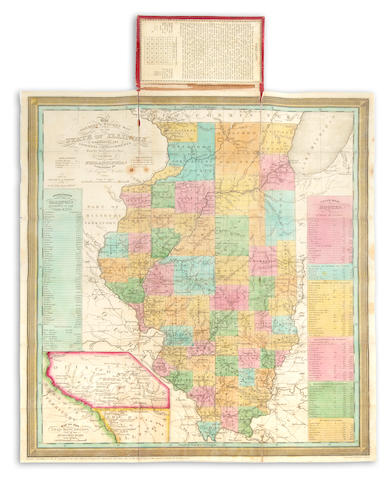 Mitchell	Pocket Map of Illinois	1836