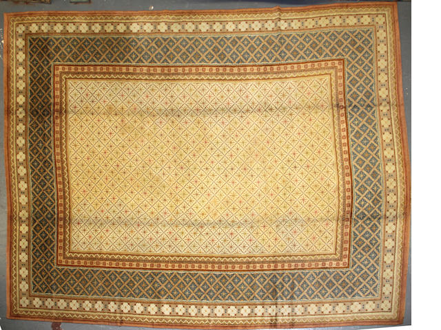A European carpet size approximately 10ft. x 13ft. 2in.