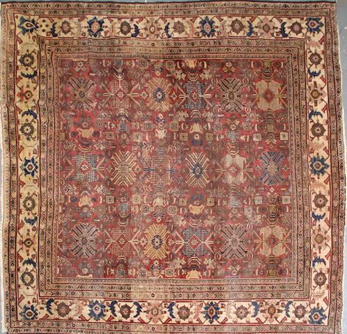A Sultanabad carpet size approximately 10ft. x 10ft.
