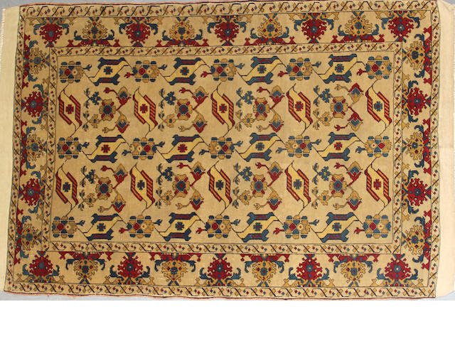 An Anatolian rug size approximately 4ft. 3in. x 6ft.