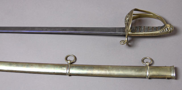 A German silver-mounted non-regulation foot officer's sword