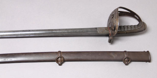 A Civil War era non-regulation foot officer's sword