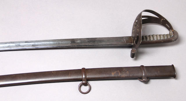 A Civil War era non-regulation foot officer's sword