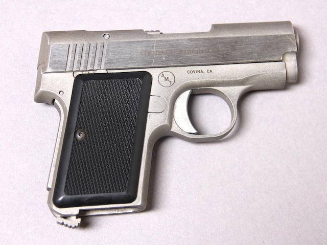 An AMT Back-Up semi-automatic pistol Modern handgun