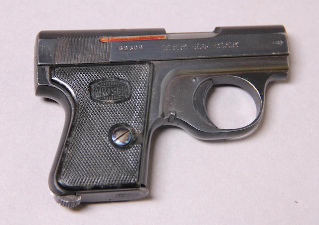 A Mauser Model WTP II semi-automatic pistol