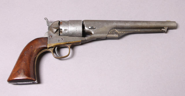 A U.S. Colt Model 1860 Army percussion revolver