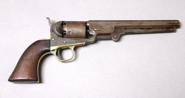 A Colt Model 1851 Navy percussion revolver