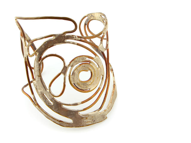 A Claire Falkenstein mixed metal cuff