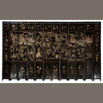 A Chinese twelve panel Coromandel screen
