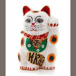 "A multi-colored crystal ""Maneki Neko"" good fortune minaudiere, Judith Leiber"
