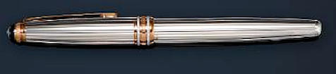 MONTBLANC: Meisterstück Solitaire 163 White Gold & Diamond 75th Anniversary Limited Edition Rollerball