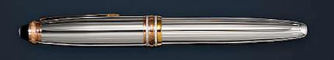 MONTBLANC: Meisterstück Solitaire 162 White Gold & Diamond 75th Anniversary Limited Edition Rollerball Pen