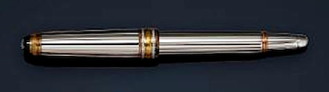 MONTBLANC: Meisterstück Solitaire 114 White Gold & Diamond 75th Anniversary Limited Edition Fountain Pen
