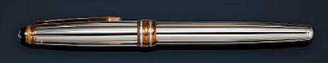 MONTBLANC: Meisterstück Solitaire 144 White Gold & Diamond 75th Anniversary Limited Edition Fountain Pen