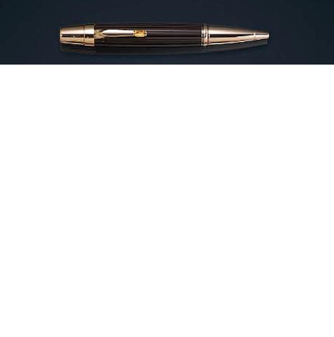 MONTBLANC: Boheme Doué Brown & Black Resin with Matte Pale Gold Ballpoint Pen