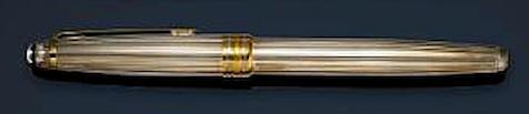 MONTBLANC: Solitaire Classique 144 Sterling Silver Pinstripe Fountain Pen