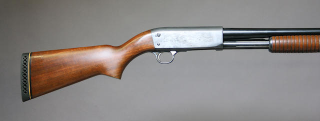 A 20 gauge Ithaca Model 37 Featherlight slide action shotgun