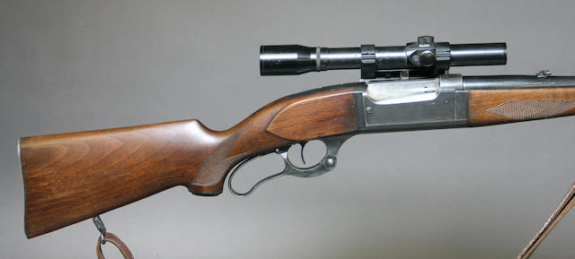 A .300 Savage Model 99-G Deluxe takedown lever action rifle