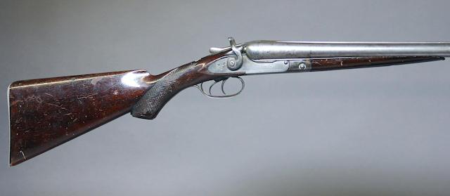 A 12 gauge Parker Brothers hammer gun