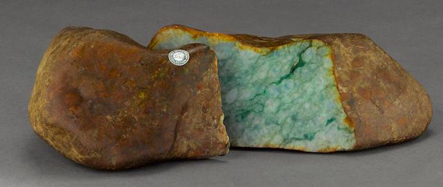 A jadeite boulder