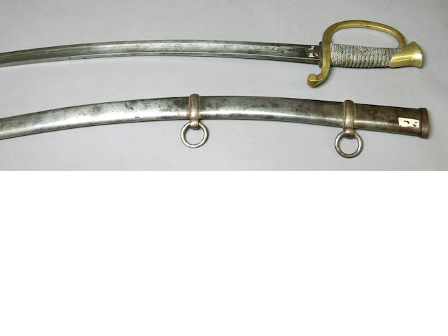 A U.S. Model 1840 mounted artillery saber by Ames Mfg. Co.