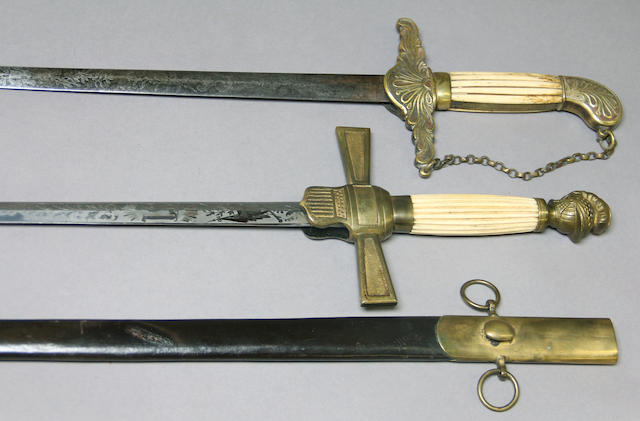 A lot of two militia officer's/nco swords