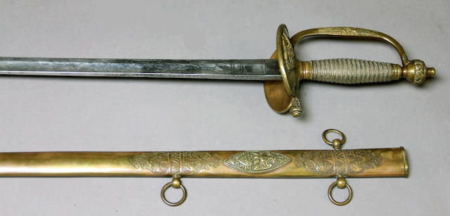 A rare U.S. Model 1840 general officer's sword by Lyon of Paris