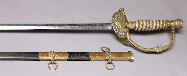 A scarce U.S. Marine Hospital Service sword