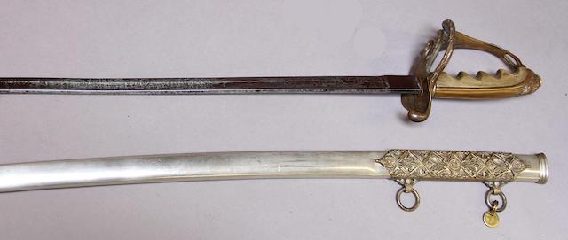 An inscribed presentation grade U.S. Model 1902 saber for all officers
